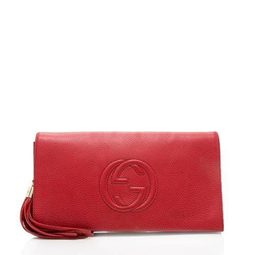 Gucci Leather Soho Clutch
