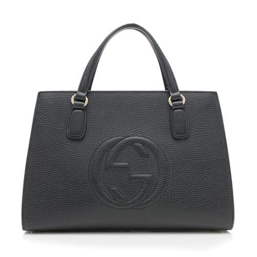 Gucci Leather Soho Medium Top Handle Satchel