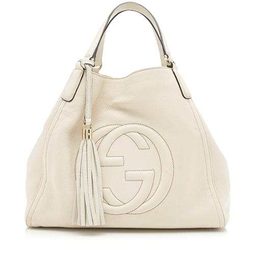 Gucci Leather Soho Medium Tote