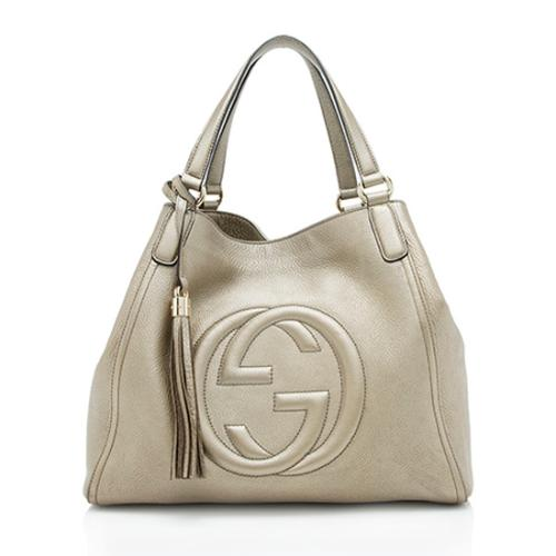 Gucci Leather Soho Medium Tote