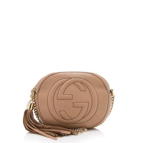 Gucci Leather Soho Mini Chain Bag