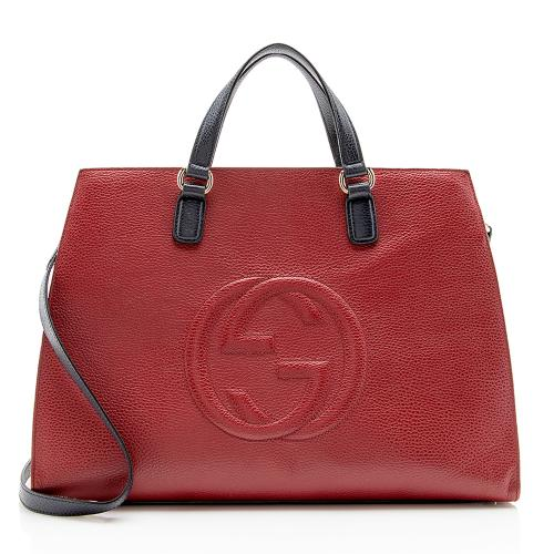 Gucci Leather Soho Top Handle Bag