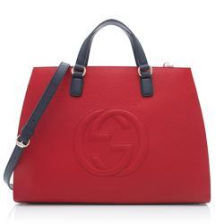 Gucci Leather Soho Top Handle Bag
