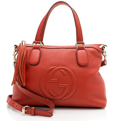 Gucci Leather Soho Top Handle Satchel