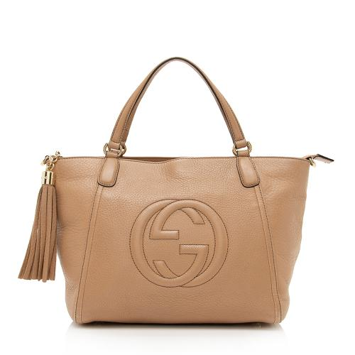 Gucci Leather Soho Top Handle Tote