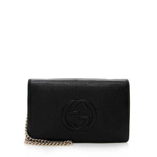 Gucci Leather Soho Wallet on Chain Bag