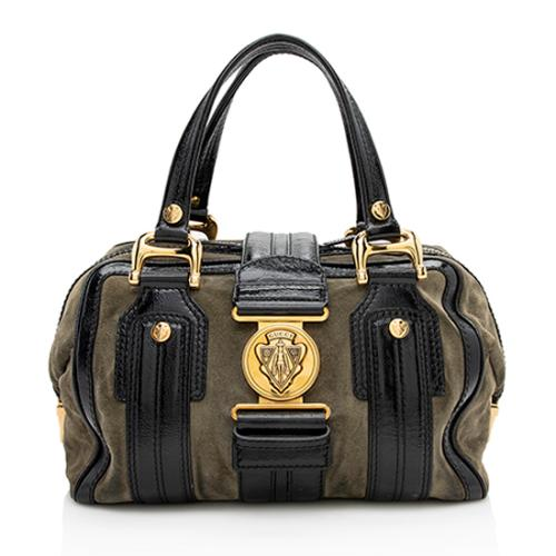 Gucci Leather Suede Aviatrix Medium Boston Satchel