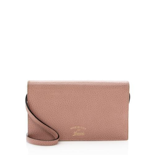 Gucci Leather Swing Crossbody Bag