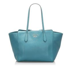 Gucci Leather Swing Tote Bag