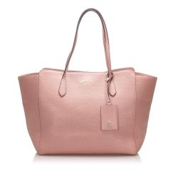 Gucci Leather Swing Tote