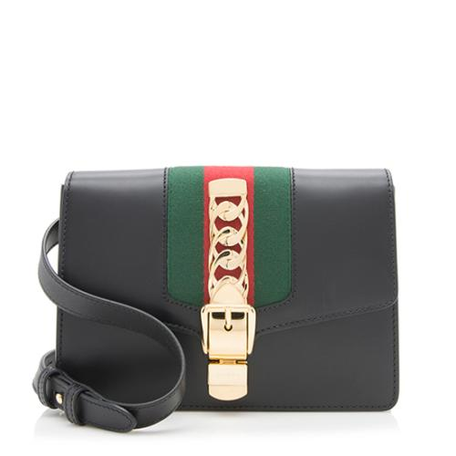 Gucci Leather Sylvie Belt Bag - Size 95