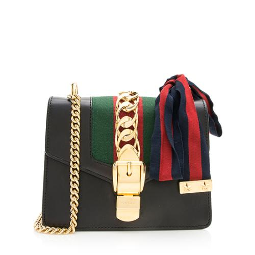 Gucci Leather Sylvie Mini Chain Bag