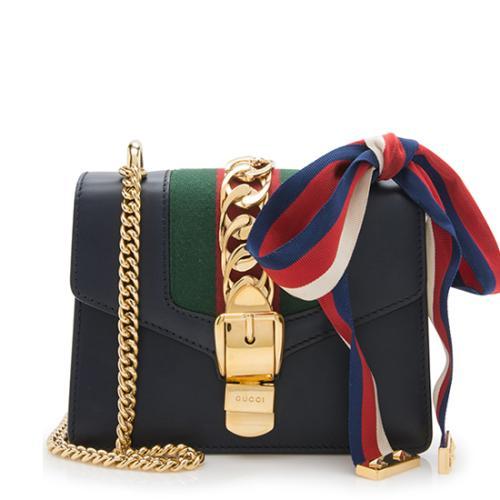 Gucci Leather Sylvie Mini Chain Bag