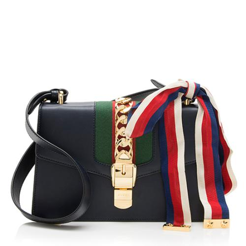 Gucci Leather Sylvie Small Shoulder Bag