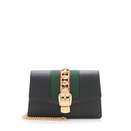 Gucci Leather Sylvie Super Mini Bag