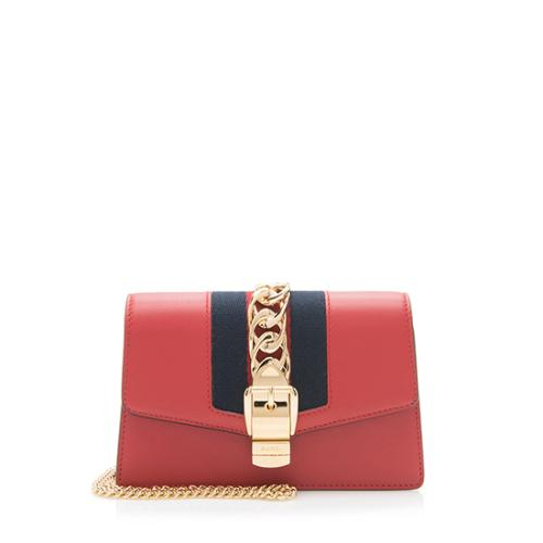 Gucci Leather Sylvie Super Mini Bag