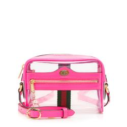 Gucci Leather Transparent Ophidia Mini Shoulder Bag