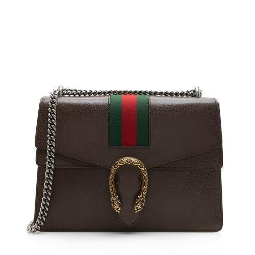 Gucci Leather Web Dionysus Medium Shoulder Bag