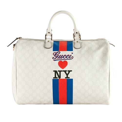 Gucci Limited Edition Large Loves Ny Boston Handbag