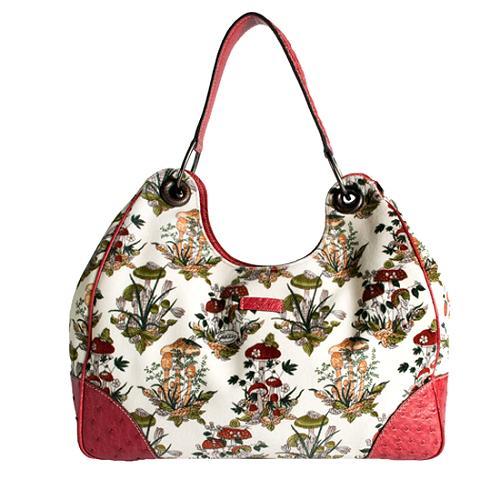 Gucci Limited Edition Mushroom Print Shoulder Handbag