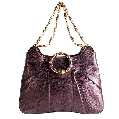 Gucci Limited Edition Tom Ford Bamboo Shoulder Handbag