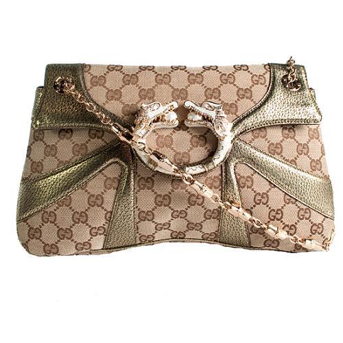 Gucci Limited Edition Tom Ford Dragon Shoulder Handbag