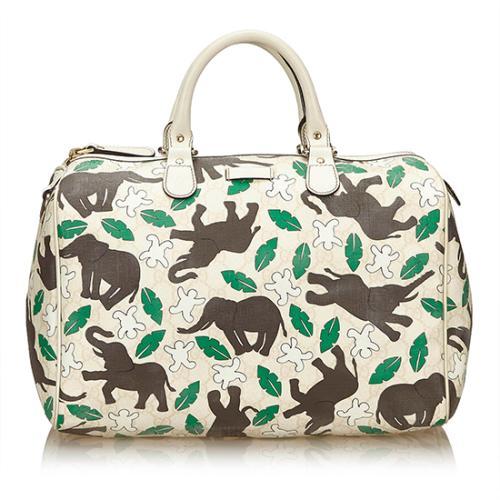 Gucci Limited Edition Elephant UNICEF Joy Boston Bag