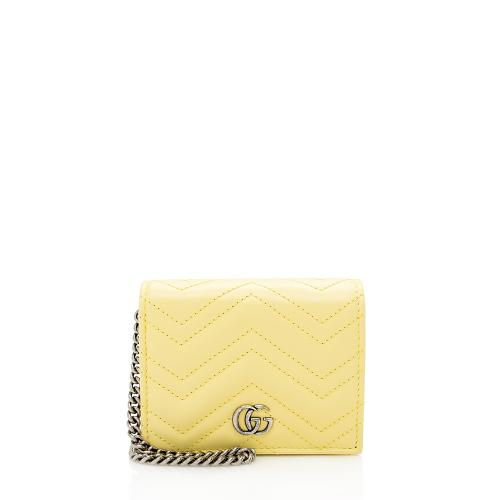 Gucci Matelasse GG Marmont Card Case Wallet