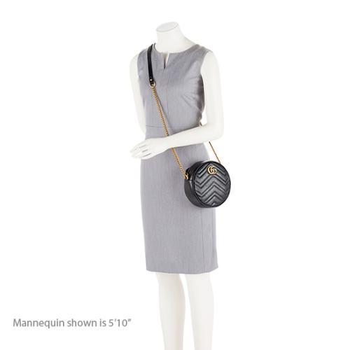 bbe4e4d07cc Gucci Matelasse GG Marmont Mini Round Shoulder Bag