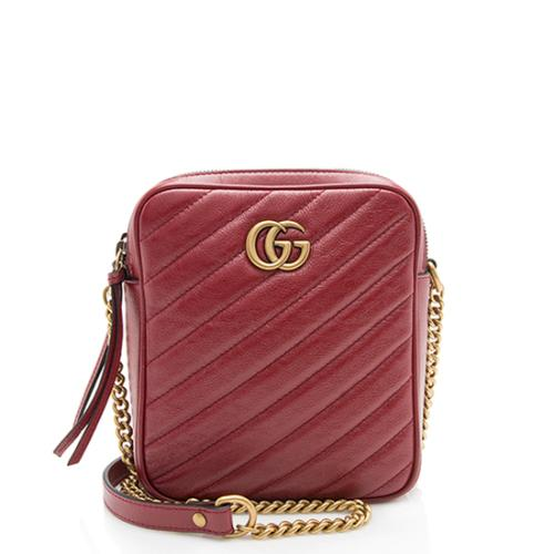 Gucci Matelasse Leather GG Marmont Rectangular Mini Shoulder Bag