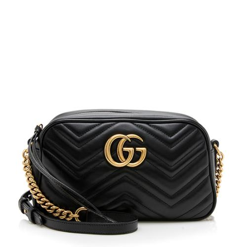 Gucci Matelasse Leather GG Marmont Shoulder Bag
