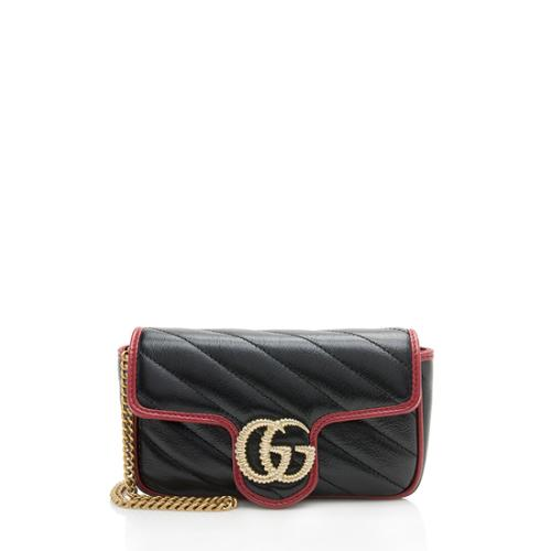 Gucci Matelasse GG Marmont Super Mini Bag