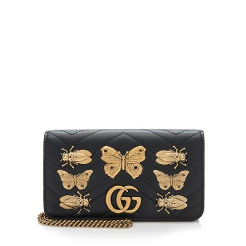 64b7257c48f Gucci-Matelasse-Leather-GG-Marmont-Animal-Studs -Mini-Bag 93821 front large 1.jpg
