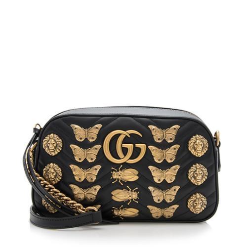 5bc2d3331c0 Gucci-Matelasse-Leather-GG-Marmont-Animal-Studs -Small-Chain-Bag 93706 front large 1.jpg