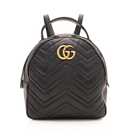 Gucci Matelasse Leather GG Marmont Backpack