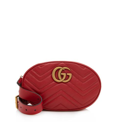Gucci Matelasse Leather GG Marmont Belt Bag - Size 30 / 75