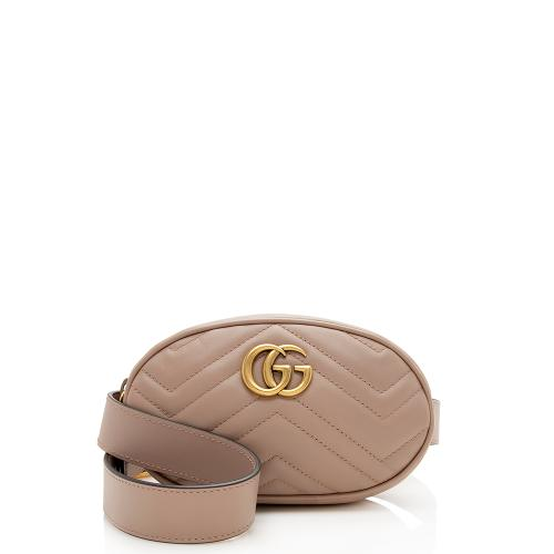 Gucci Matelasse Leather GG Marmont Belt Bag - Size 42 / 105
