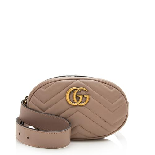 Gucci Matelasse Leather GG Marmont Belt Bag - Size 95 - FINAL SALE