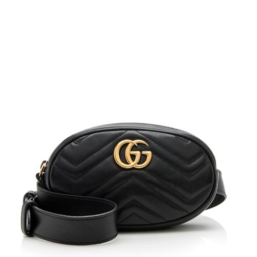 Gucci Matelasse Leather GG Marmont Belt Bag - Size 95