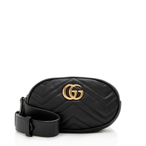 Gucci Matelasse Leather GG Marmont Belt Bag - Size 32 / 95