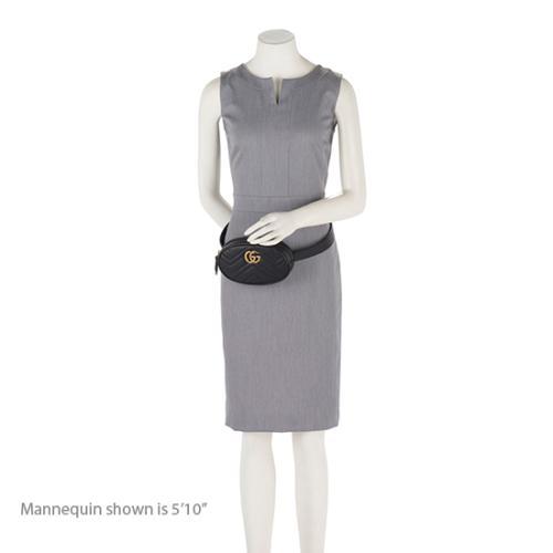 fc83fc7f662 Gucci Matelasse Leather GG Marmont Belt Bag - Size 95