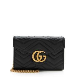 Gucci Matelasse Leather GG Marmont Flap Mini Bag