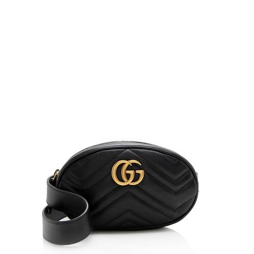 Gucci Matelasse Leather GG Marmont Belt Bag - Size 34/80