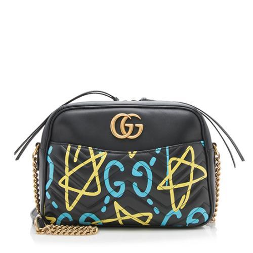 Gucci Matelasse Leather GG Marmont Gucci Ghost Medium Shoulder Bag