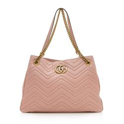 Gucci Matelasse Leather GG Marmont Large Shoulder Bag