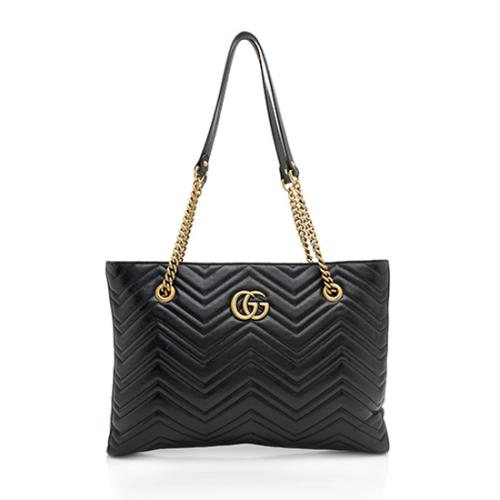 11802e8b590d Gucci Matelasse Leather GG Marmont Medium Chain Tote