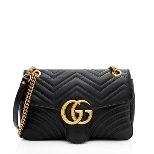 Gucci Matelasse Leather GG Marmont Medium Shoulder Bag