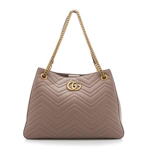 be131828f Gucci Matelasse Leather GG Marmont Medium Shoulder Bag