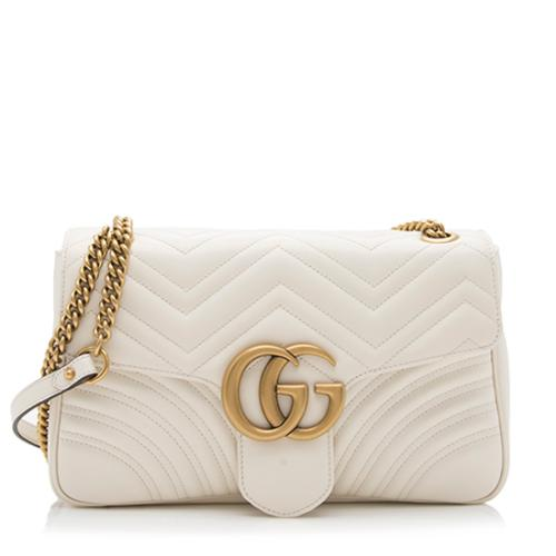 Gucci Matelasse Leather GG Marmont Medium Shoulder Bag