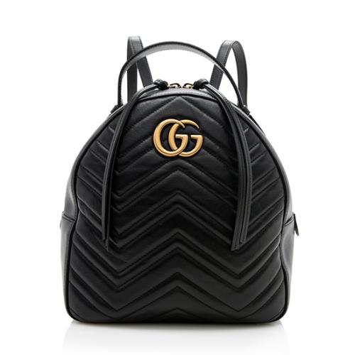 Gucci Matelasse Leather GG Marmont Mini Backpack